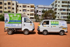 Clean Sense branded vehicles